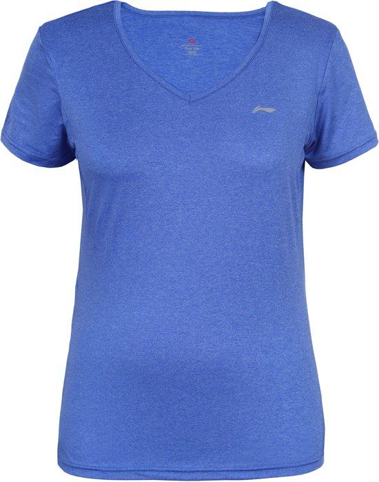 Li-Ning Felice Sportshirt Dames - Blue L