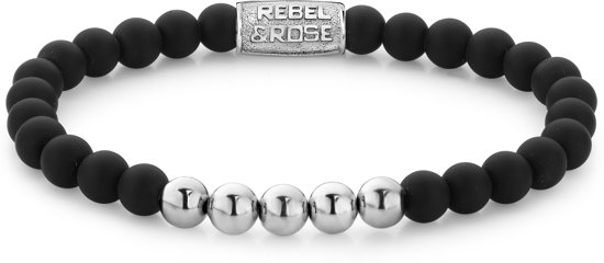 Rebel&Rose armband - Mad Panther - 6mm - silver colored