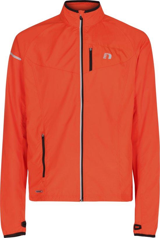 Newline Base Race Jacket Kids 15215-170 - Hardloopjas - Kinderen - Hot Orange - Maat XXS