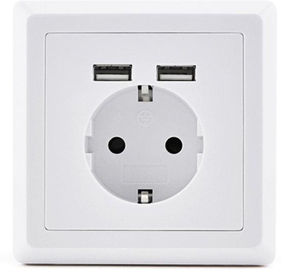 Homra usb stopcontact - Wit