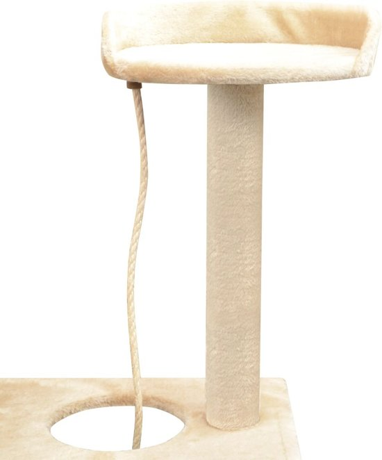 vidaXL Kattenkrabpaal met sisal krabpalen 150 cm beige