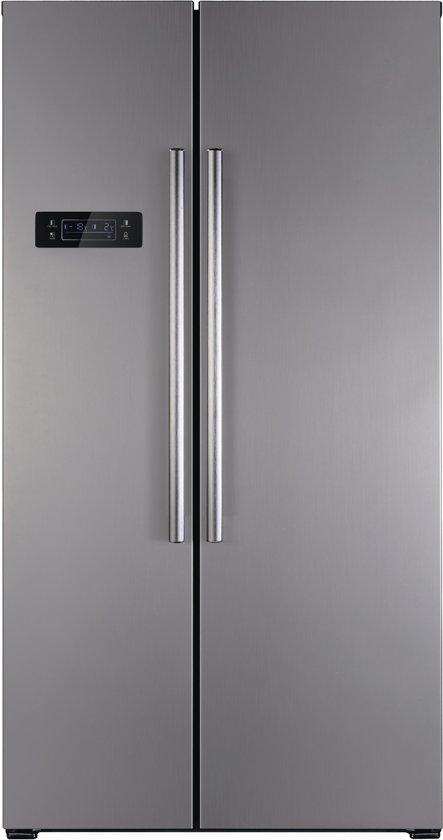 Exquisit SBS 550-4 A+ - Amerikaanse koelkast - Inox