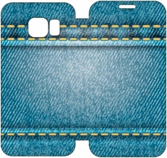 Hip Design Hoesje Spijkerbroek Samsung Galaxy S6 Edge in Sint-Maria-Oudenhove (Zottegem)