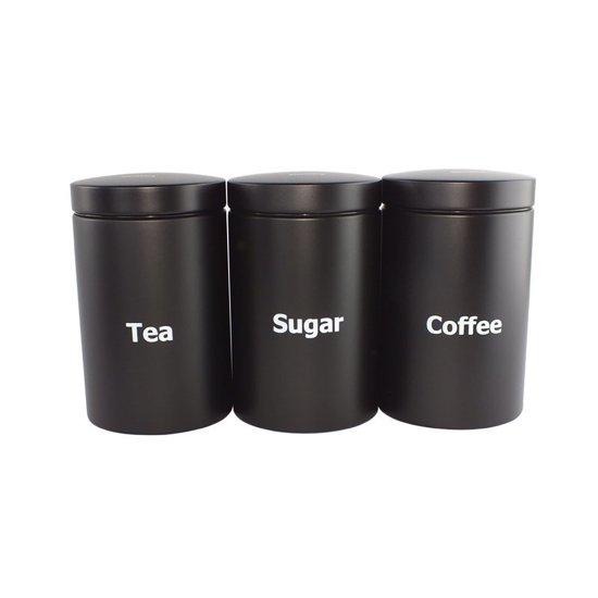 Wonderlijk bol.com   Klausberg Voorraadpotten set koffie, thee, suiker zwart JE-05