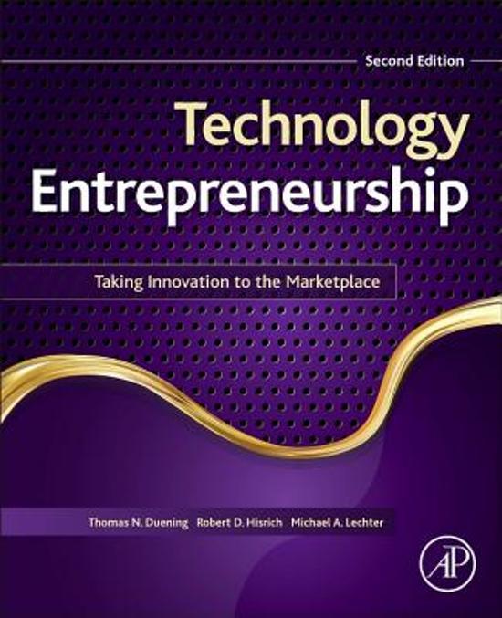 Boek cover Technology Entrepreneurship van Thomas Duening (Paperback)