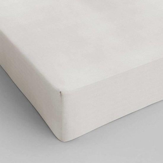 Hoeslaken 80x200 100% Percal Katoen Off White 40cm hoekhoogte. Exclusieve Kwaliteit!