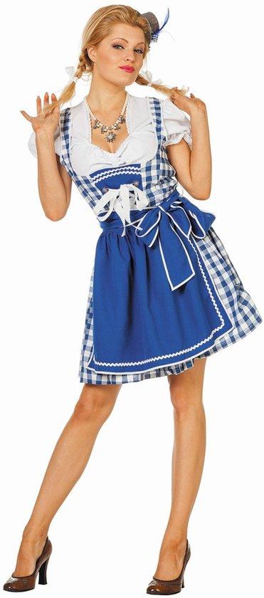 83e7ce84feb266 Oktoberfest Dirndl Brigitte jurkje blauw Tiroler dame Maat 34