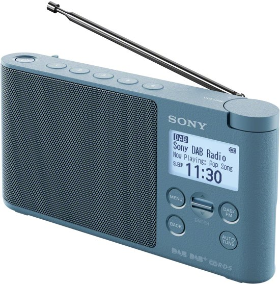 Sony XDR-S41D - DAB+ Radio - Blauw