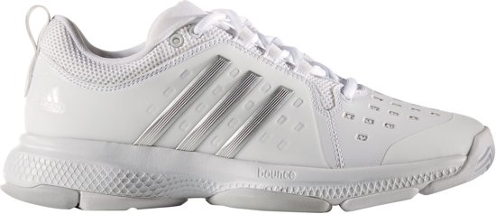 15fa883695e adidas Barricade Classic Bounce Tennisschoenen - Maat 40 - Vrouwen - wit/ zilver