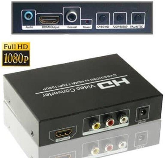 AV / HDMI naar HDMI Converter(zwart)