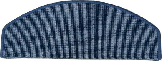 Tapijtkeuze Trapmatten San Salvador-Blauw-65x24x4 cm