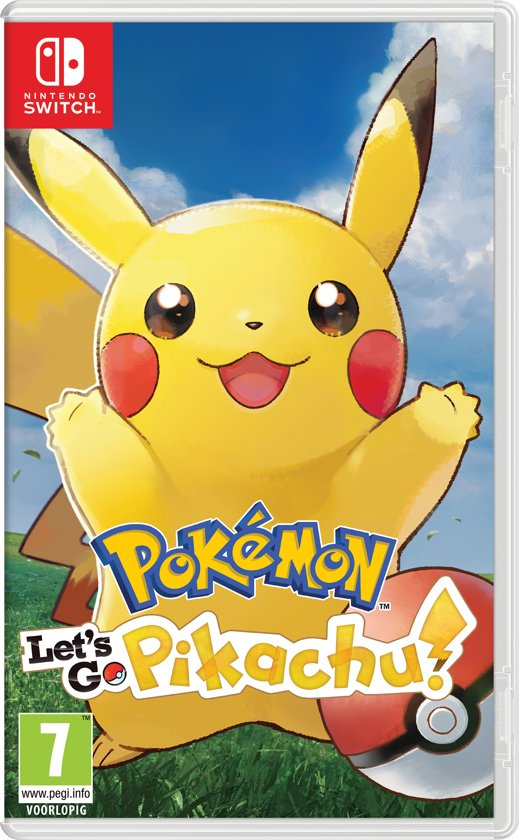Cover van de game Pokémon Lets Go, Pikachu! - Switch