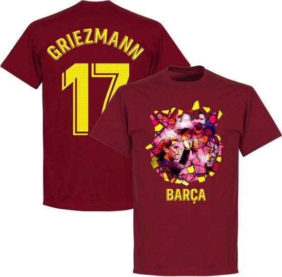 Barcelona Griezmann 17 Gaudi Foto T-Shirt - Bordeaux Rood - XXL