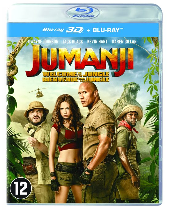DVD cover van Jumanji: Welcome To The Jungle (Blu-ray 3D)