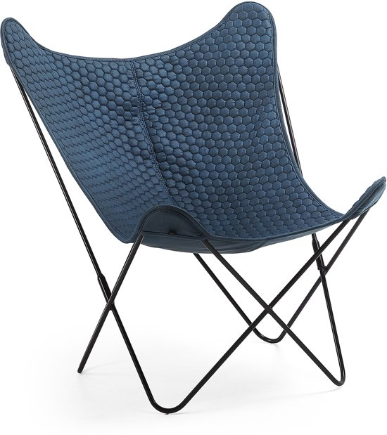 Kave Home - Fauteuil Fly blauw