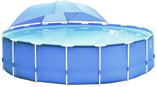 Intex zwembad overkapping 366 x 549 cm blauw for Zwembad vierkant intex