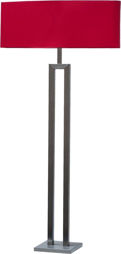bol.com | Bony Design staande lamp rvs met rode kap (6283-61)