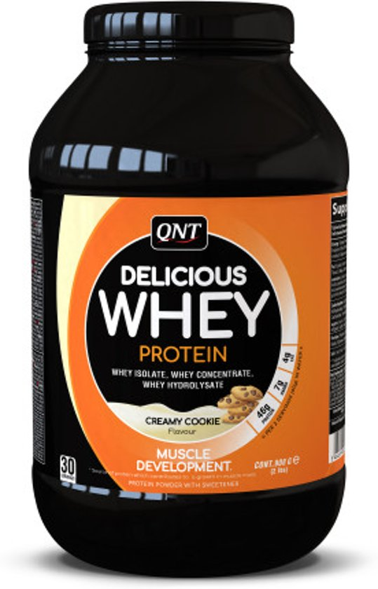QNT Delicious Whey Protein Powder - Creamy Cookie 908 gr