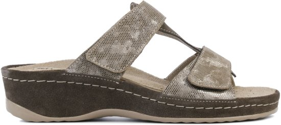 Rohde Vrouwen Slippers -  5711 - Taupe - Maat 39