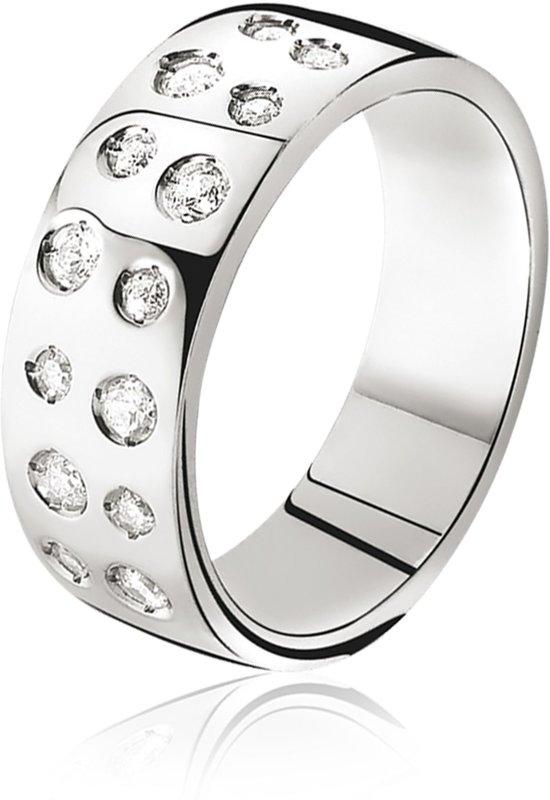 Zinzi - Zilveren Ring - Zirkonia - Maat 62 (ZIR574-62)