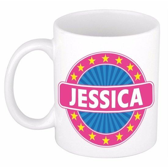 Jessica naam koffie mok / beker 300 ml  - namen mokken