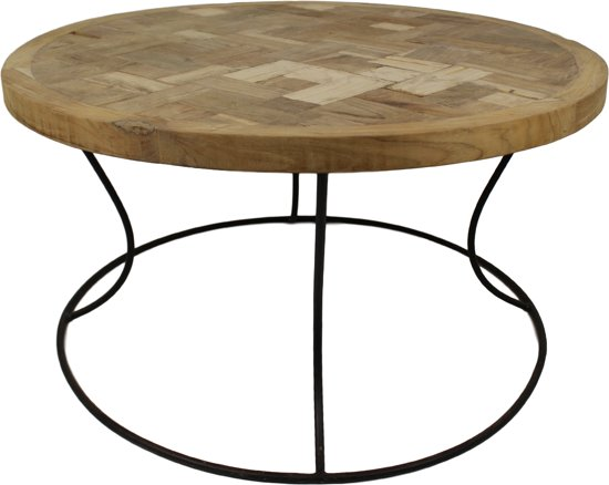 Hsm collection salontafel rond blank for Salontafel rond design