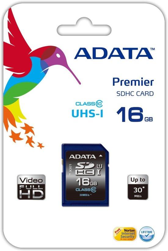 ADATA Premier SDHC UHS-I U1  16GB in Geulle