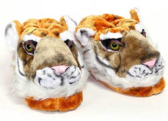 Volwassenen dierensloffen tijger M (37-38,5)