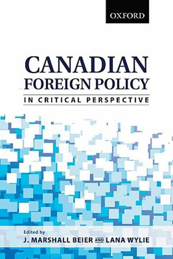 canadian foreign policy In this way, indigeneity is eliminated as a legitimate matter of concern in canadian foreign policy theories of foreign policy and international relations.