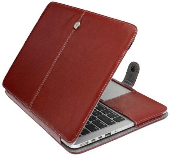 3f7a1e7ecae bol.com   Leren MacBook Pro 13 inch hoes - Bruin