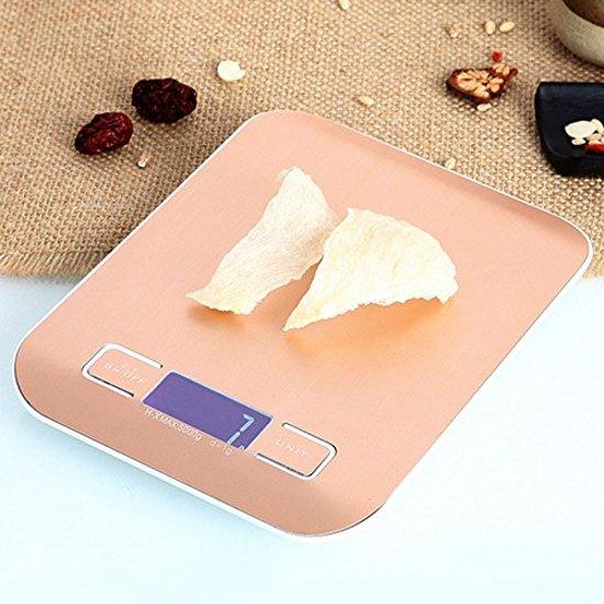 Digitale Precisie Keuken Weegschaal - Tot 10 kg  goudkleur