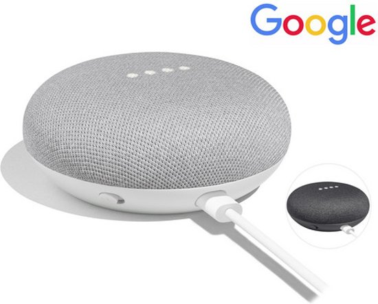 Google Home Mini Smart Speaker - Chalk (krijt/lichtgrijs)