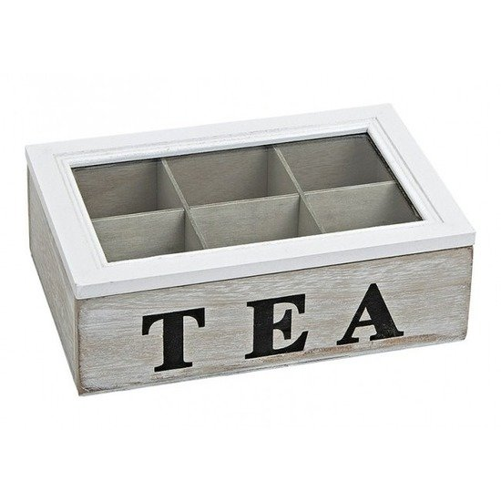 Nieuw bol.com | Theedoos 6 vaks white wash Tea LU-12