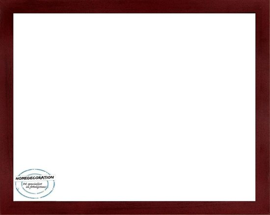 Homedecoration Misano – Fotolijst – Fotomaat – 36 x 56 cm  – Wijnrood