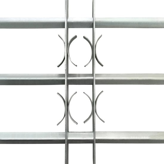 vidaXL Raambeveiliging verstelbare tralies met drie dwarsbalken 500-650 mm