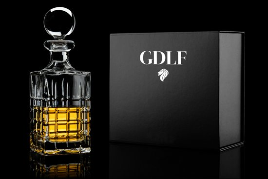 Handgeslepen Kristallen Whisky Karaf LuX in Giftbox by GDLF