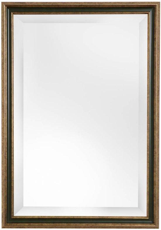 Spiegel Met Lijst.Pavia Spiegel Met Goud En Donker Groene Lijst 100 X 130 Cm