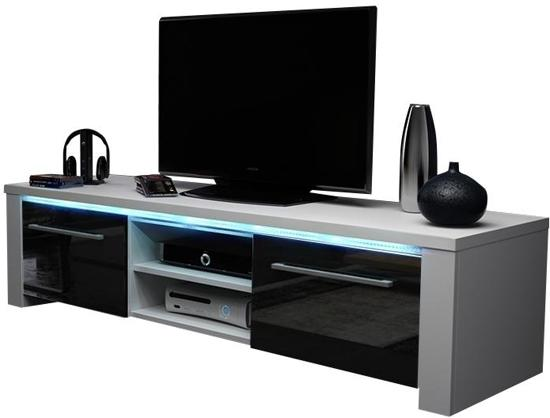 Servieskast Ouderwets Modern : Bol.com tv meubel tv kast messa incl led body wit front hoogglans