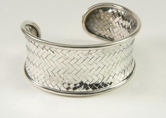 brede zilveren dames armbanden