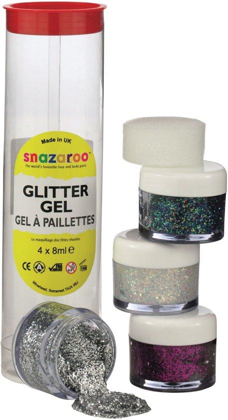 Snazaroo Schmink Glitter Gel set 4 kleuren