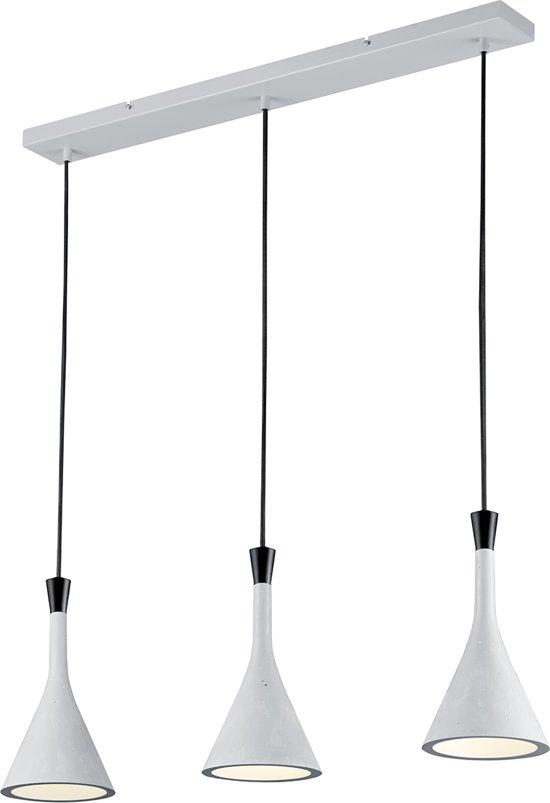 TRIO, Hanglamp, Roddik 3xE14, max.40,0 W Armatuur: Kunststof, Beton kleur L:80,0cm, L:16,0cm, H:150,0cm