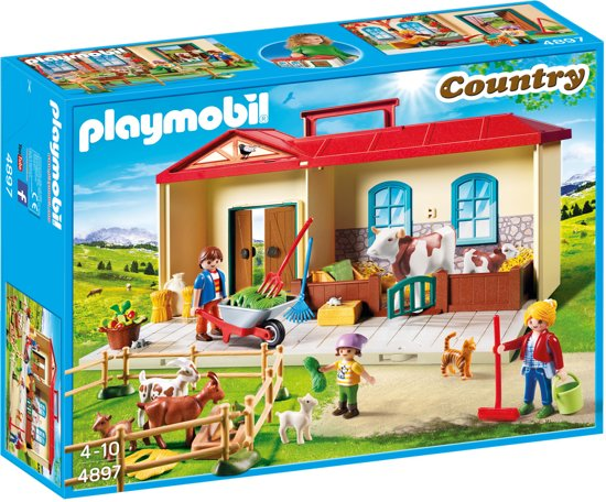 Afbeelding van PLAYMOBIL  Meeneem Boerderij - 4897 speelgoed