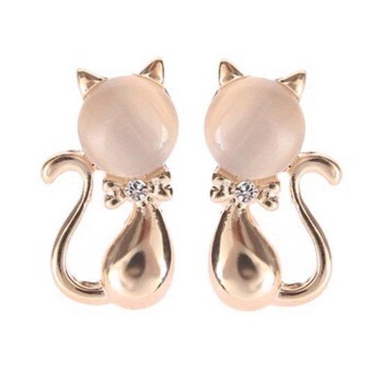 Prachtige goudkleurige katten oorbellen