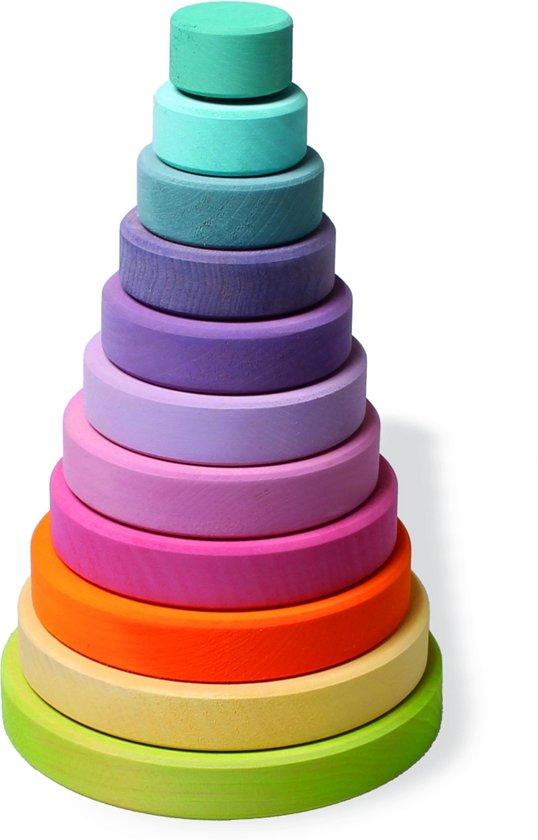 Grimm's houten stapeltoren pastel kleur groot