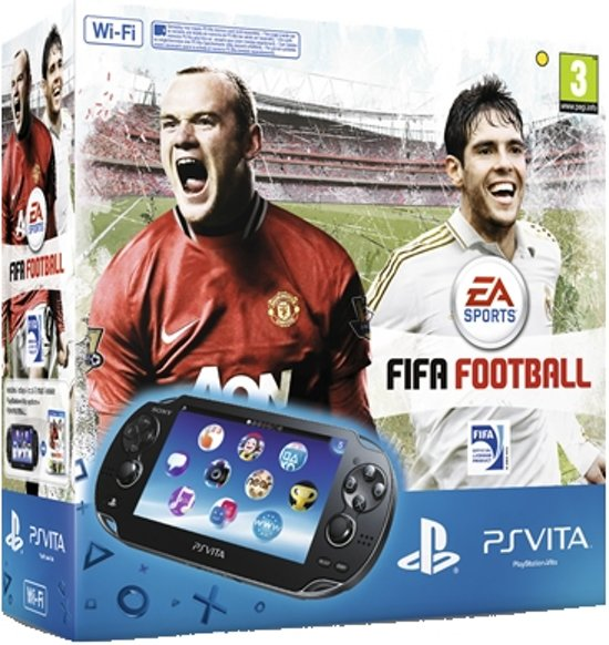 Sony PlayStation Vita Wifi + FIFA 13 Voucher + 4GB Memory Card Zwart
