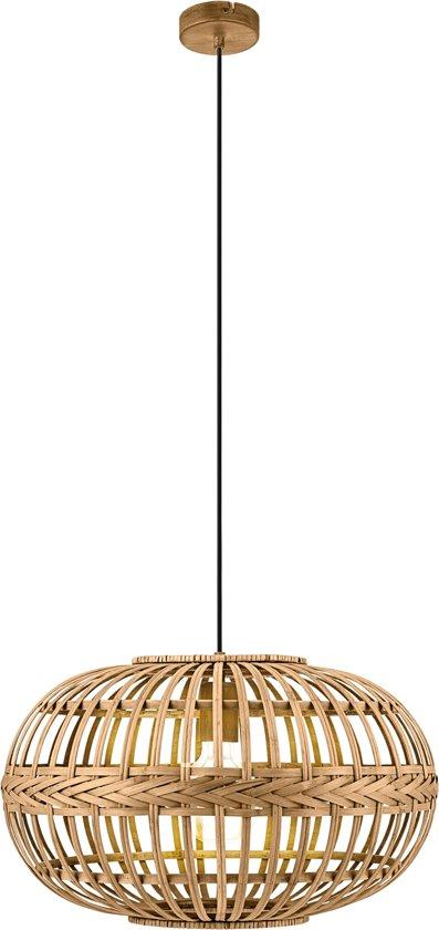 EGLO Vintage Amsfield Hanglamp - 1 Lichts - Ø380mm. - Bruin