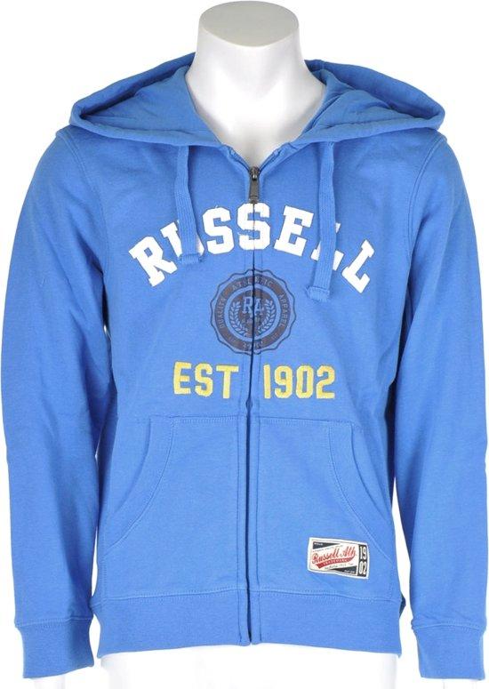 Russell Athletic Full zip Hooded Sweat - Sporttrui - Kinderen - Maat 128 - Blauw