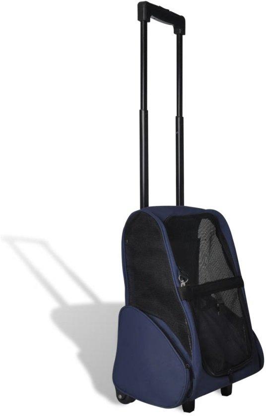 Inklapbare huisdier trolley (blauw)