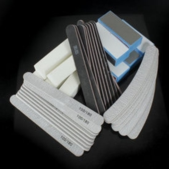 Manicureset nagelvijlen en nagelbufferblokken (40 stuks)