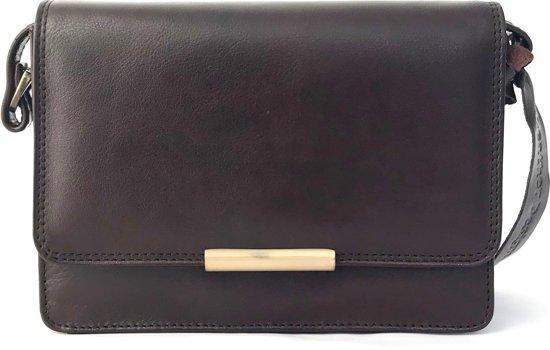 Leather Design Dames Schoudertas Hoge kwaliteit Leer Bruin